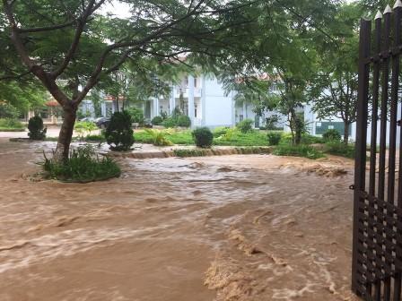 Điểm thi THPT Mường Than (Than Uyên) bị ngập do mưa lũ