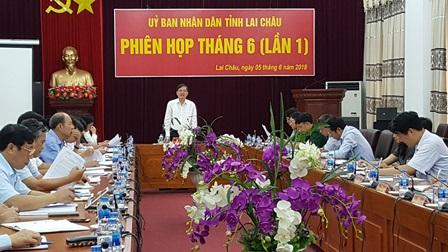 Đồng chí Đỗ Ngọc An - Phó Bí thư Tỉnh ủy, Chủ tịch UBND tỉnh chủ trì Phiên họp