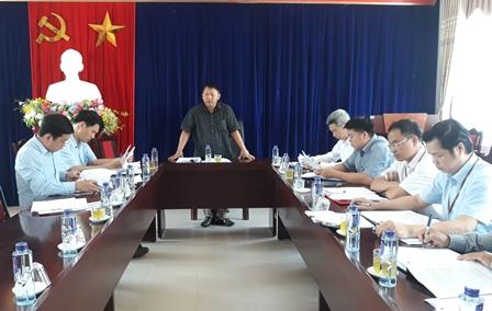 Quang cảnh buổi Đoàn giám sát làm việc tại huyện Nậm Nhùn