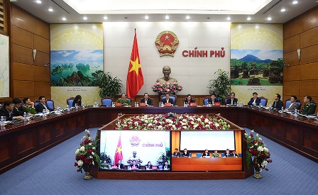 Hội nghị tại điểm cầu Chính phủ