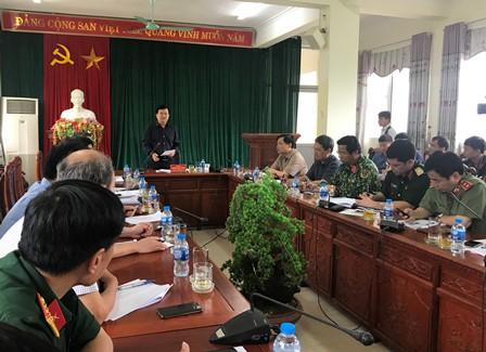 Quang cảnh buổi làm việc của Phó Thủ tướng Chính phủ Trịnh Đình Dùng và đoàn công tác với lãnh đạo tỉnh