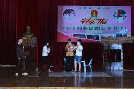 Phần thi Kỹ năng của đội huyện Sìn Hồ