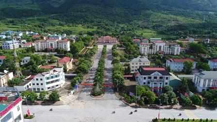 Một góc thị trấn Tam Đường (huyện Tam Đường) hôm nay