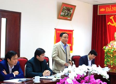 Lãnh đạo Hội Người Cao tuổi tỉnh phát biểu thảo luận tại Hội nghị