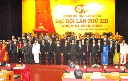 Ban Chấp hành Đảng bộ tỉnh Lai Châu khóa XIII nhiệm kỳ 2015 - 2020