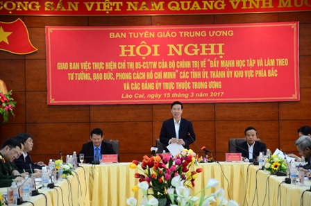 Đồng chí Võ Văn Thưởng, Ủy viên Bộ Chính trị, Bí thư Trung ương Đảng, Trưởng ban Tuyên giáo Trung ương chủ trì, phát biểu chỉ đạo Hội nghị