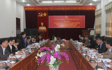 Quang cảnh buổi làm việc của Đoàn công tác với lãnh đạo tỉnh