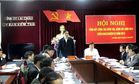Đồng chí Vũ Văn Hoàn, Phó Bí thư Tỉnh ủy phát biểu chỉ đạo Hội nghị