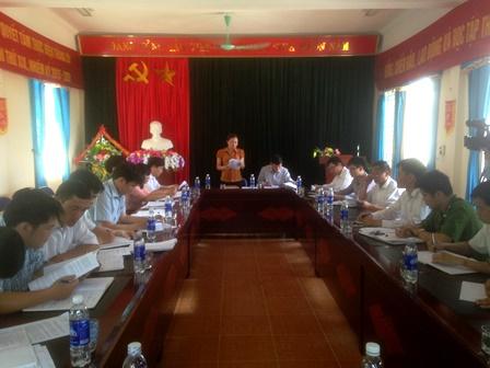Quang cảnh làm việc tại xã Nậm Manh