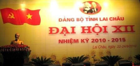 Maket trang trí Đại hội XII Đảng bộ tỉnh, nhiệm kỳ 2010 - 2015
