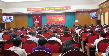 Quang cảnh Hội nghị tại điểm cầu Hà Nội (ảnh:HH)