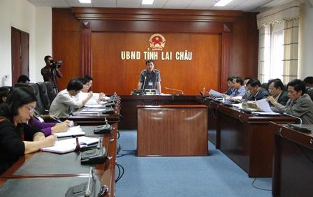 Quang cảnh HN tại điểm cầu UBND tỉnh