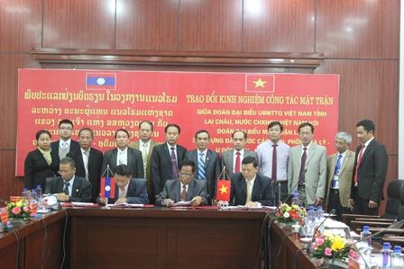 Các tỉnh tiến hành ký kết biên bản