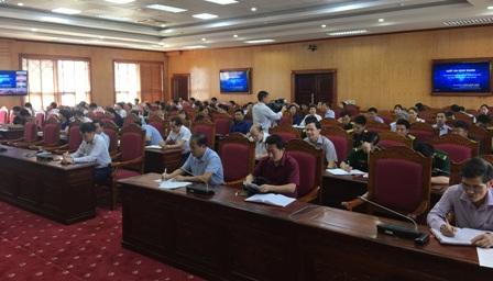 Các đại biểu tham dự Hội nghị tại điểm cầu Lai Châu