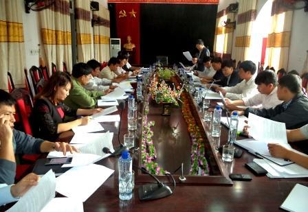Họp tiểu ban tuyên truyền Đại hội Đảng bộ huyện