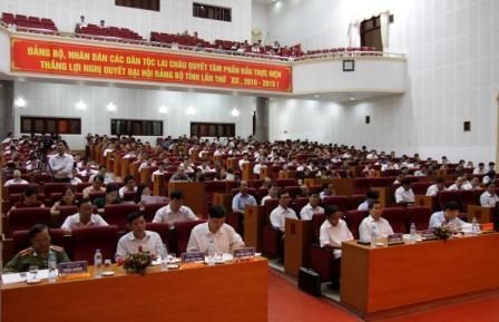 Đồng chí Lò Văn Giàng, UVBCH Trung ương Đảng, Bí thư Tỉnh ủy khai mạc Hội nghị