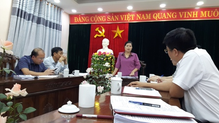 Đ/c Phó Bí thư Thường trực Tỉnh ủy phát biểu tại buổi làm việc