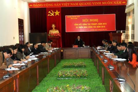 Đồng chí Tống Thanh Hải - Ủy viên BTV Tỉnh ủy, Phó Chủ tịch UBND tỉnh phát biểu chỉ đạo tại Hội nghị