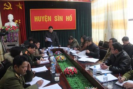 Quang cảnh buổi làm việc tại huyện Sìn Hồ