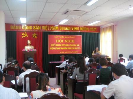 Hội nghị sơ kết công tác tuyên giáo 6 tháng đầu năm 2014