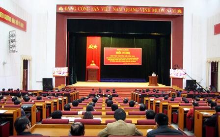 Quang cảnh Hội nghị tại Trung tâm Hội nghị - Văn hóa tỉnh