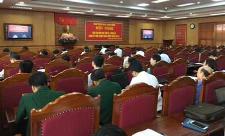 Quang cảnh Hội nghị tại điểm cầu Tỉnh ủy Lai Châu