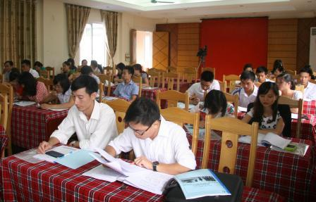 Các học viên tham gia lớp bồi dưỡng