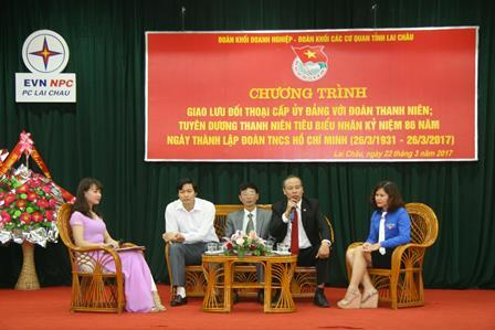 Các khách mời đối thoại trực tiếp với ĐVTN