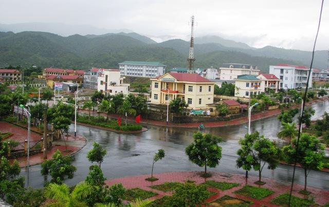Một góc thị trấn Tam Đường