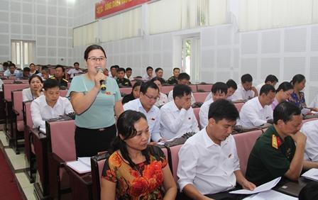 Đại biểu thảo luận tại hội trường