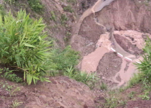 Nhiều tuyến đường tại địa bàn huyện Mường Tè, bị sạt lở do mưa lũ
