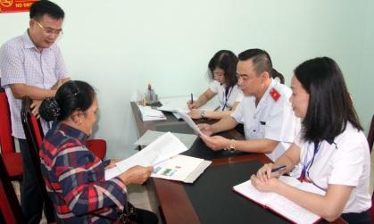 Tổ công tác kiểm tra quy trình tiếp công dân tại Trụ sở tiếp công dân tỉnh