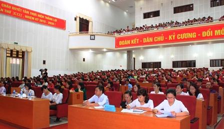 Quang cảnh lớp bồi dưỡng chính trị hè năm 2018 của Ban Chỉ đạo Bồi dưỡng chính trị hè thành phố Lai Châu
