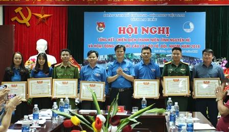 Lãnh đạo Tỉnh Đoàn trao Bằng khen cho các tập thể xuất sắc trong Chiến dịch