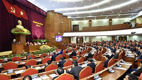 Quang cảnh Hội nghị Trung ương 8 khóa XII