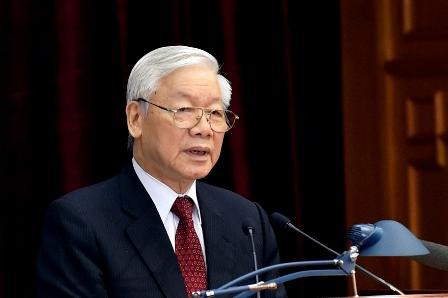 Tổng Bí thư Nguyễn Phú Trọng phát biểu khai mạc Hội nghị Trung ương 8 khóa XII