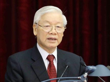 ổng Bí thư Nguyễn Phú Trọng được Trung ương tín nhiệm giới thiệu để Quốc hội bầu Chủ tịch nước