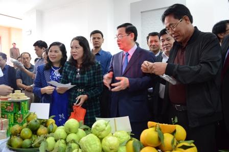 Đại biểu thăm quan các gian trưng bày đặc sản các địa phương.