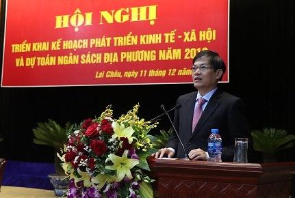 Đồng chí Đỗ Ngọc An, Phó Bí thư Tỉnh ủy, Chủ tịch UBND tỉnh phát biểu tại Hội nghị