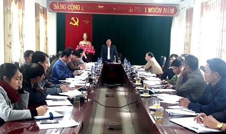 Đ/c Phan Văn Nguyên Phó Bí thư Thường trực Huyện ủy, Chủ tịch HDND huyện  phát biểu chỉ đạo Hội nghị