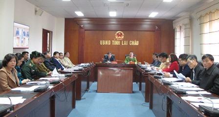 Quang cảnh Hội nghị tại UBND tỉnh Lai Châu
