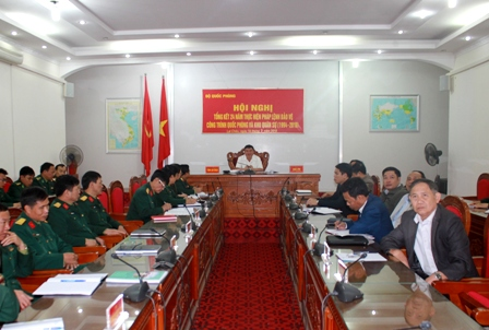 Quang cảnh hội nghị tại điểm cầu Bộ CHQS tỉnh Lai Châu