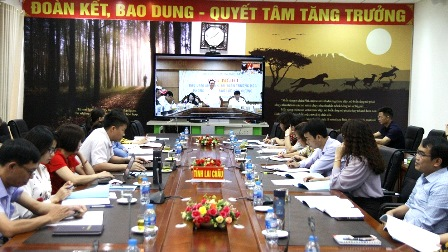 Các đại biểu dự hội nghị tại điểm cầu tỉnh Lai Châu