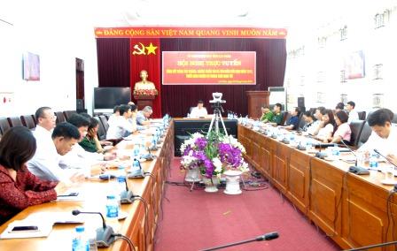 Các đại biểu dự hội nghị tại điểm cầu Lai Châu