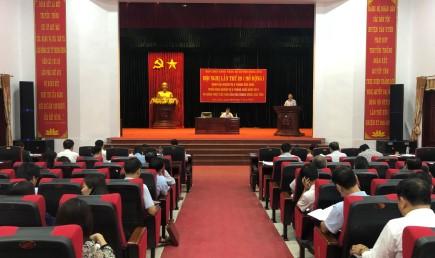 Đồng chí Nguyễn Sĩ Cảnh - TUV, Bí thư Huyện ủy, CTUBND huyện khai mạc hội nghị