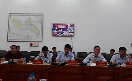 Các đại biểu dự Hội nghị tại điểm cầu UBND tỉnh