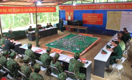Hội nghị tổ chức giao nhiệm vụ hiệp đồng chỉ thị bảo đảm tác chiến phòng thủ cho các phòng, ban, ngành, đoàn thể