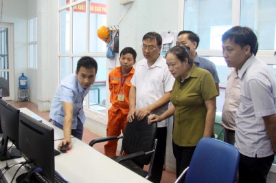 Đoàn công tác khảo sát tại thủy điện Mường Kim 2