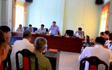 Đồng chí Tống Thanh Hải - Ủy viên Ban Thường vụ Tỉnh ủy, Phó Chủ tịch Thường trực UBND tỉnh chủ trì buổi tiếp công dân