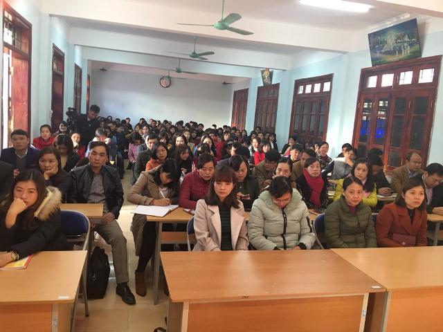 Các học viên tại lớp bồi dưỡng